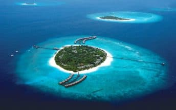 beach house iruveli maldives resort aerial shots 1
