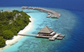 dusit thani maldives resort aerial2