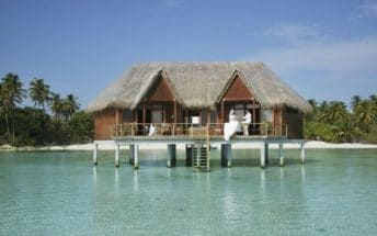 meeru island resort honeymoon suite exterior