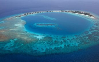viceroy maldives areial view island